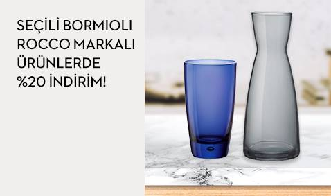 Seçili Bormioli Rocco Markalı Ürünlerde %20 İndirim