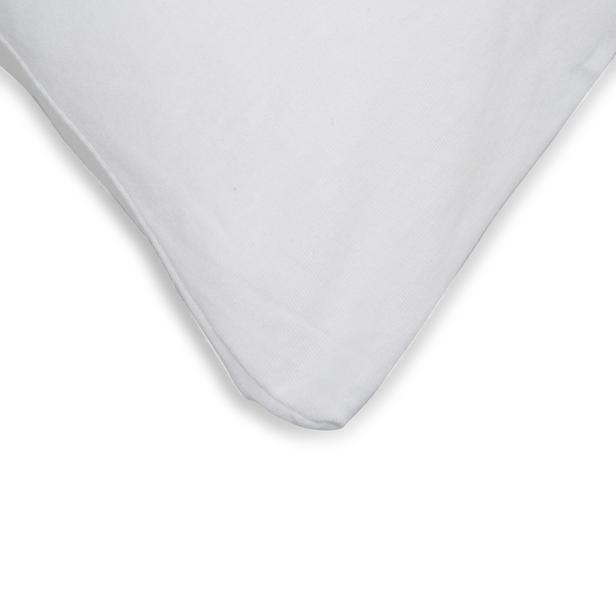 Açelya 2'li Penye Yastık Kılıfı (Beyaz) - 50x70 cm
