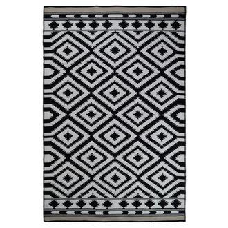 Giz Home M11 Molly Pamuklu Kilim (Siyah/Beyaz) - 80x150 cm
