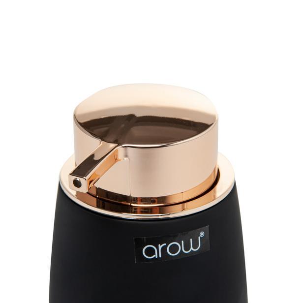 Arow Akrilik Tombul Sıvı Sabunluk - Siyah