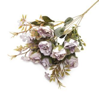 Q-Art Rose Buket Yapay Çiçek - Mor