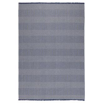 Koza Halı Casa Cotton 21409A Yolluk (Lacivert/Gri) - 75x200 cm