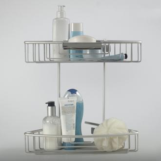 Primanova Paloma 2'li Alüminyum Banyo Rafı - Gri