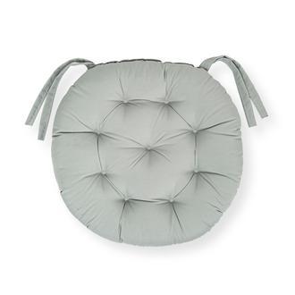 Iris Home Sandalye Minderi Yuvarlak 43 cm - Gri