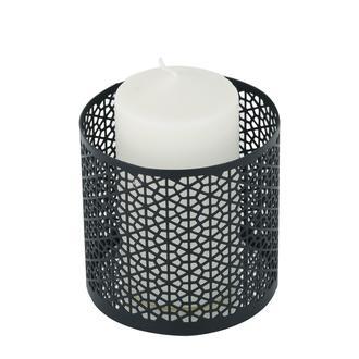 Angdesign Celine Dekoratif Metal Mumluk - Siyah