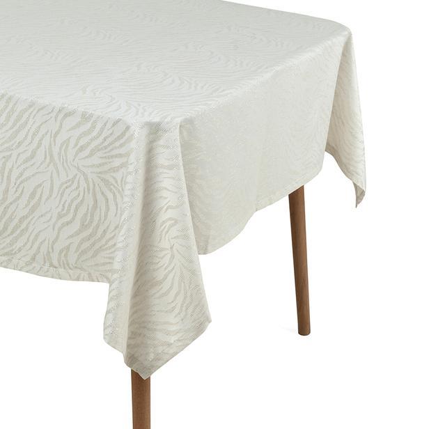 Cynthia Marg Simli Masa Örtüsü (Bej) - 150x250 cm