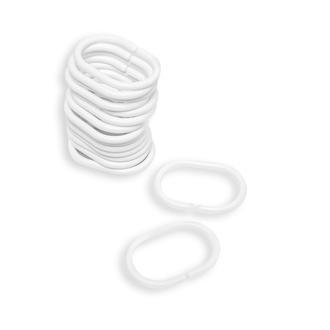 Primanova Plastik Beyaz Perde Boru Halkası - Beyaz
