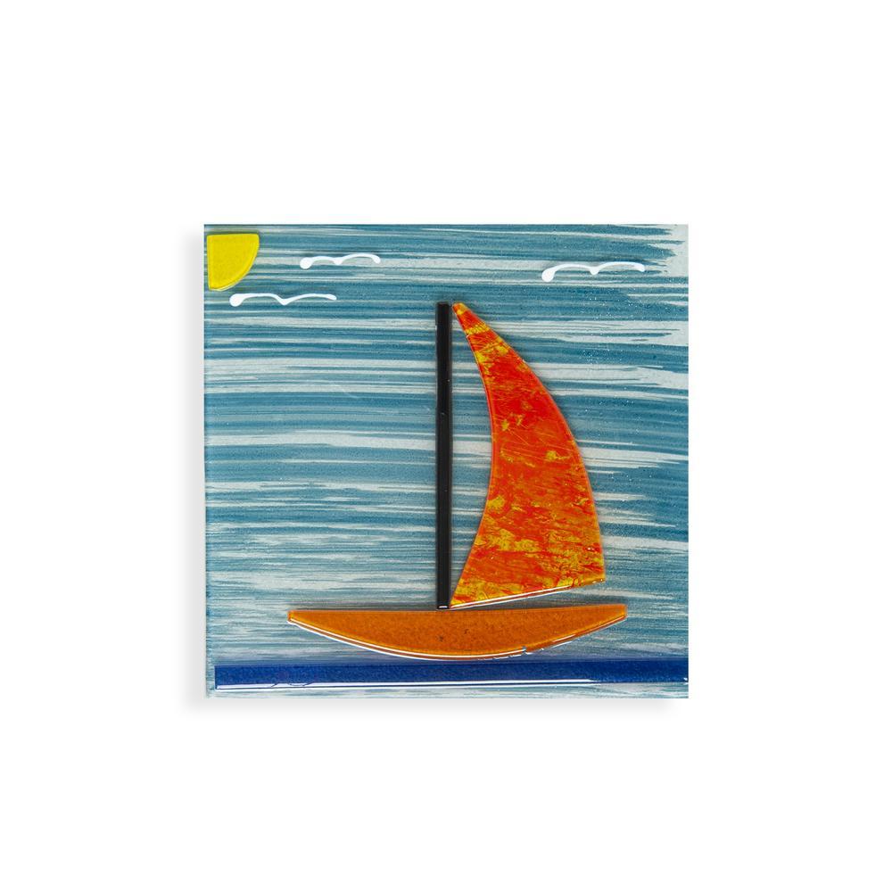Frater Home Deniz Cam Gider Süsü - Asorti - 15x15 cm