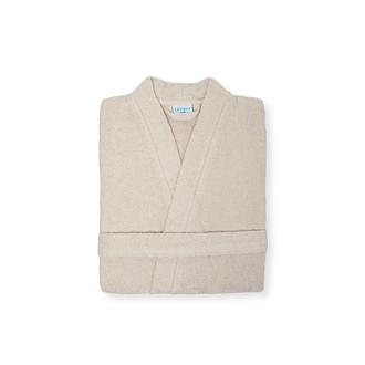 Linnea Plain Kadın Kimono Bornoz (Bej) - L / XL Beden
