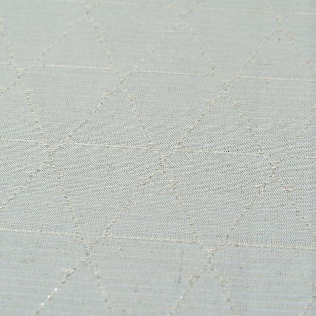 Cynthia Pixy Simli Masa Örtüsü (Bej) - 150x250 cm