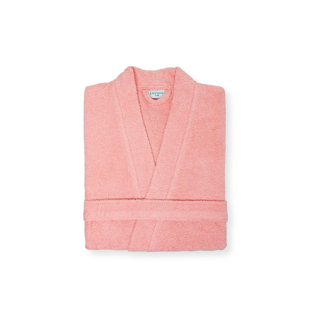 Linnea Plain Kadın Kimono Bornoz - Soft Pembe - L/XL Beden