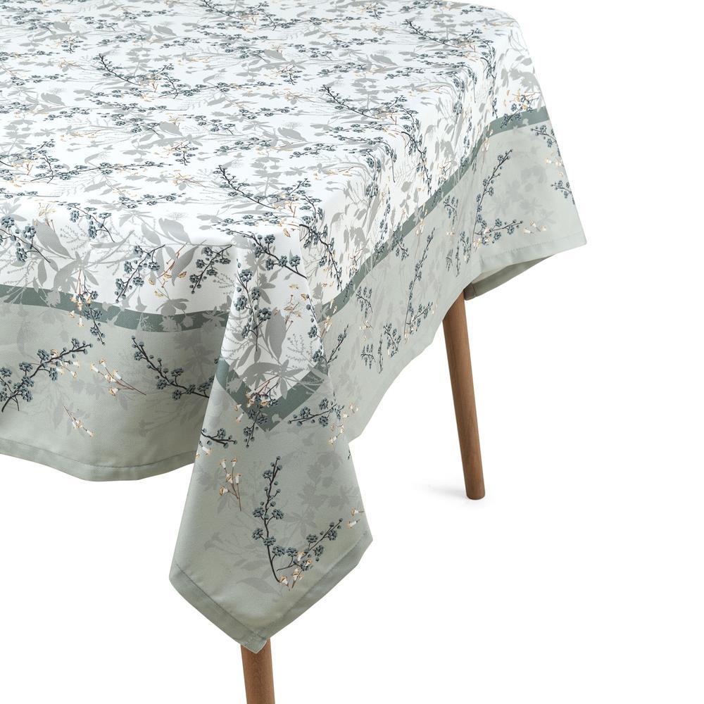 Cynthia Blossom Baskılı Masa Örtüsü (Yeşil) - 140x180 cm