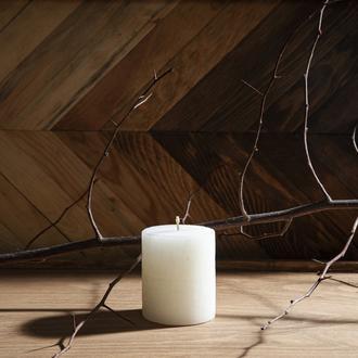 Q-Art Vanilla Silindir Blok Mum-7x8 cm