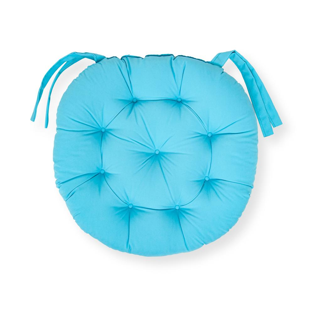 Iris Home Sandalye Minderi Yuvarlak 43 cm - Turkuaz