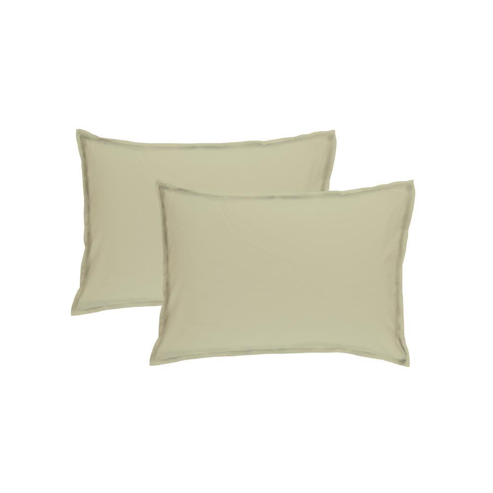 Simple Life Sarev Ranforce İkili Yastık Kılıfı Seti - Yeşil