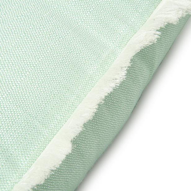 Cynthia Kırık Panama Kırlent (Yeşil) - 43x43 cm