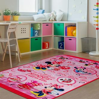 Giz Home Minnie Lisanslı Çocuk Halısı (Pembe) - 100x140 cm