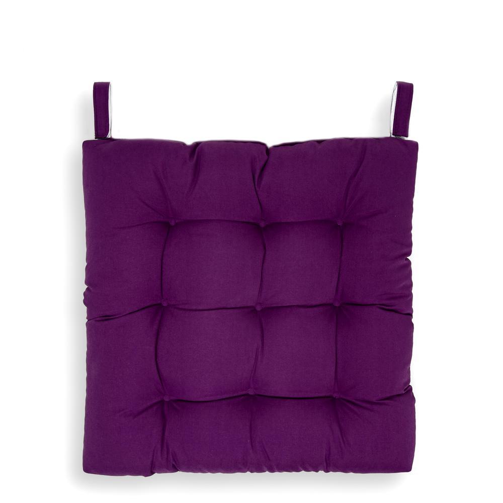 Iris Home Sandalye Minderi - 43x43 cm - Mürdüm