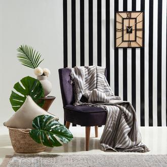 Eponj Home Verda Keten Koltuk Örtüsü (Hardal) - 170x220 cm