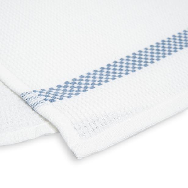 Linnea Pique Tekli Mutfak Havlusu (Beyaz / Mavi) - 50x70 cm