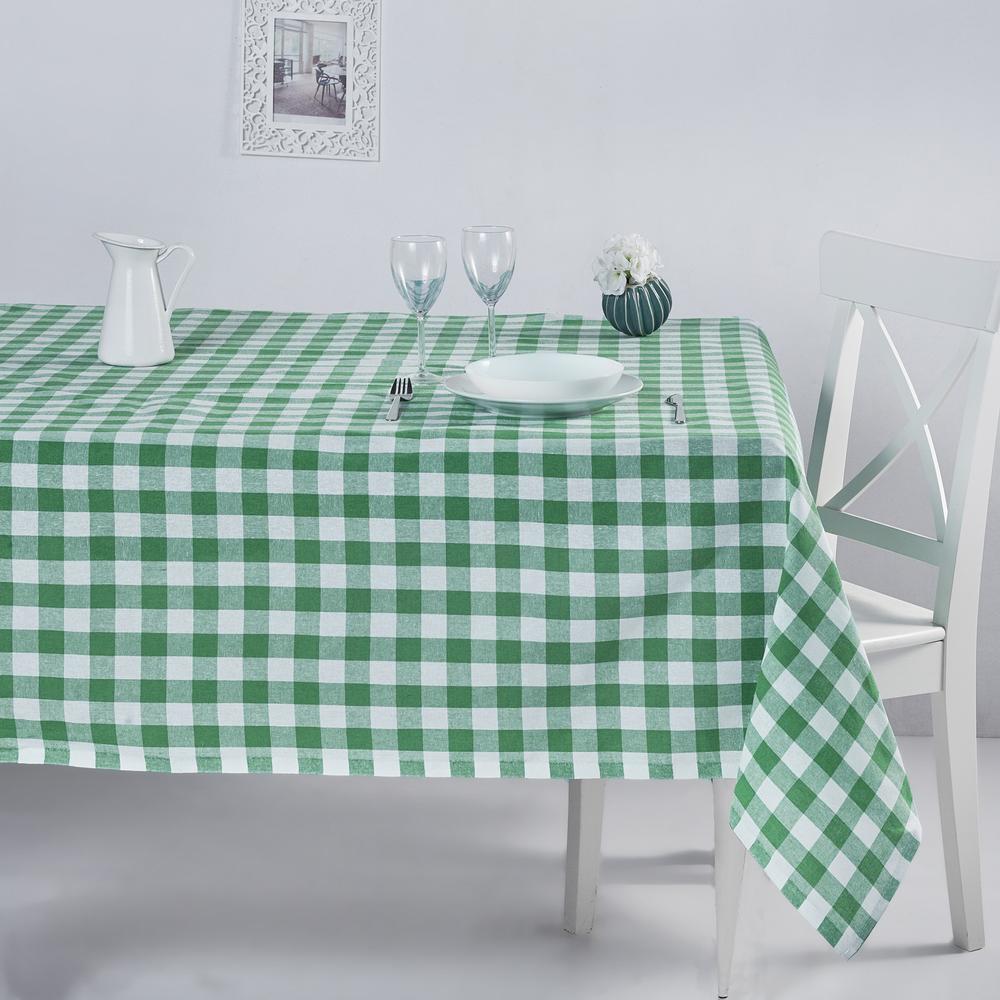 DC Home Kareli Masa Örtüsü (Yeşil) - 160x220 cm