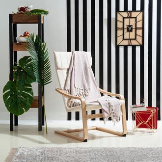 Evim Home Daisy Simli Koltuk Şalı - 130x170 cm - Açık Pudra