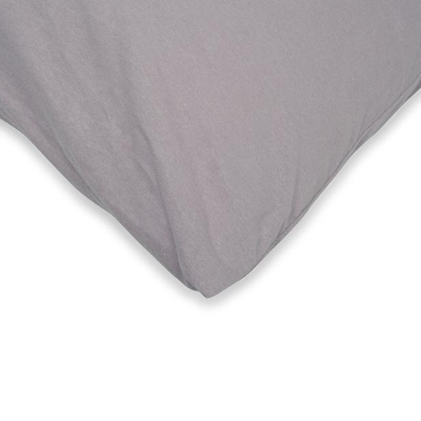 Açelya 2'li Penye Yastık Kılıfı (Gri) - 50x70 cm