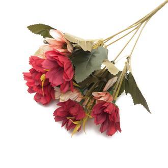 Q-Art Candy Yapay Çiçek Buketi - RedPeach