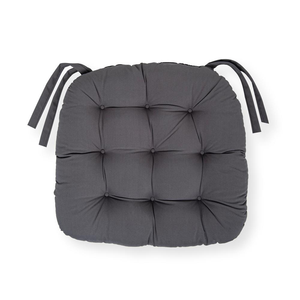 Iris Home Sandalye Minderi Oval 43x43 cm - Antrasit
