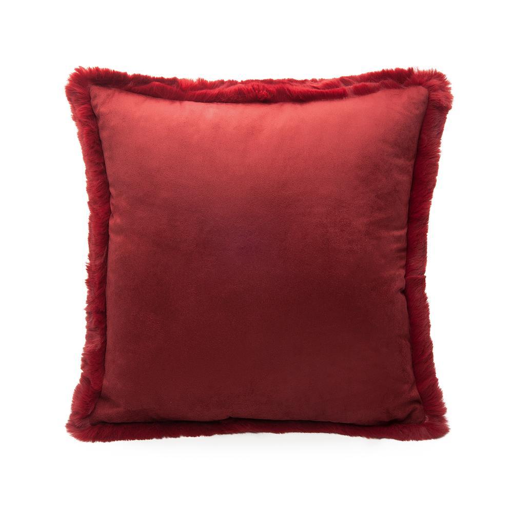 Linnea Post Kırlent (Kırmızı) - 45x45 cm
