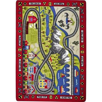 Confetti Railway Bukle Çocuk Halısı (Kırmızı) - 133x190 cm