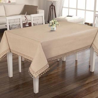 Elegante Design Fancy Lınen Collectıon Masa Örtüsü  - 160x320 cm - Bej