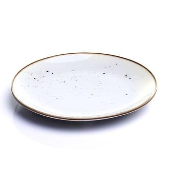 Tulu Porselen 1 Parça Pasta Tabağı - Reactive Krem / 19 cm