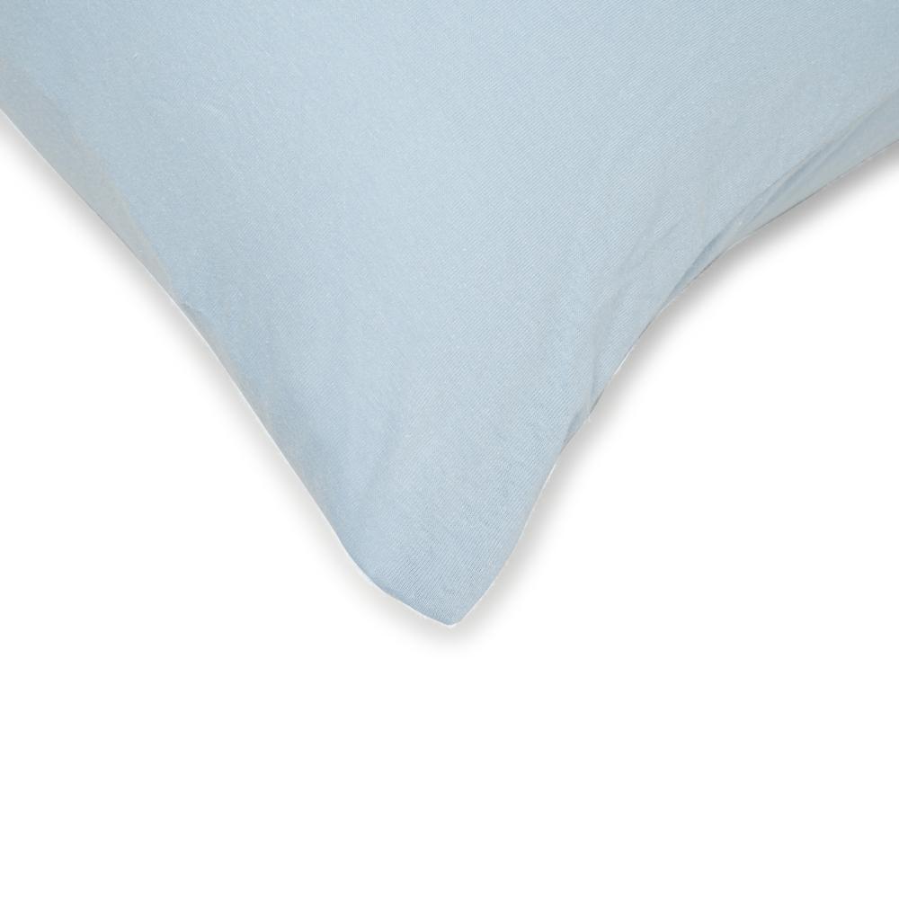Açelya 2'li Penye Yastık Kılıfı (Mavi) - 50x70 cm