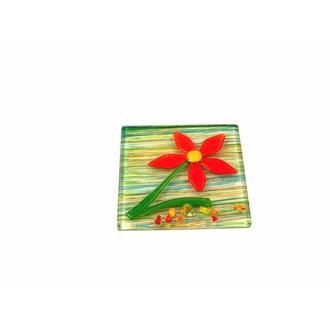 Gerok Füzyon Çiçek Gider Kapağı (Yeşil) - 10x10 cm