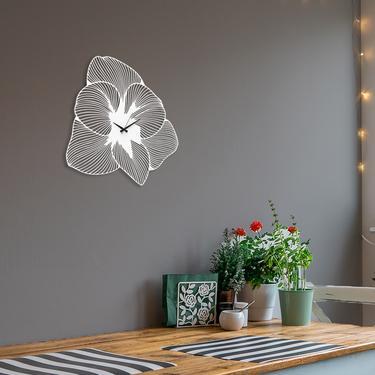 Artepera APS039 Azalea Metal Duvar Saati ( Yalı Beyazı ) - 49x49 cm