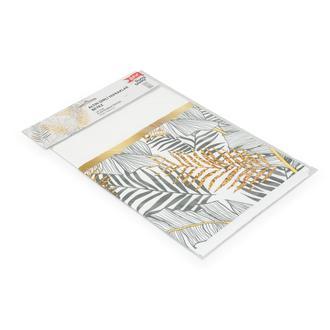 Roll-Up Party Dreams Altın Simli Yapraklar Masa Örtüsü - Beyaz/12x18 cm