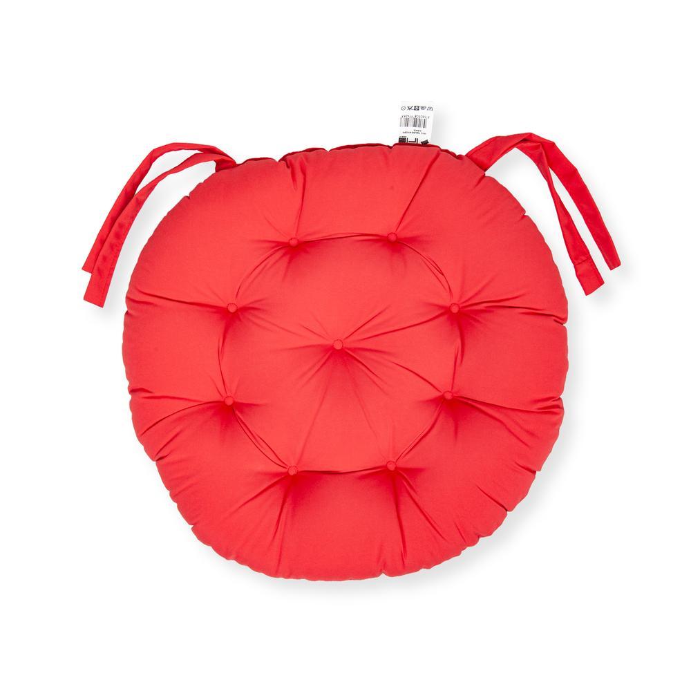 Iris Home Sandalye Minderi Yuvarlak 43 cm - Kırmızı