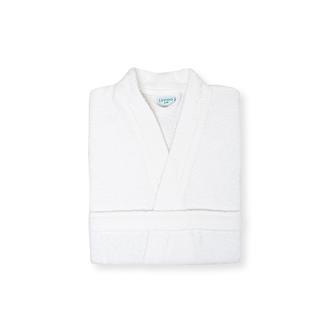 Linnea Plain Erkek Kimono Bornoz (Beyaz) - L / XL Beden