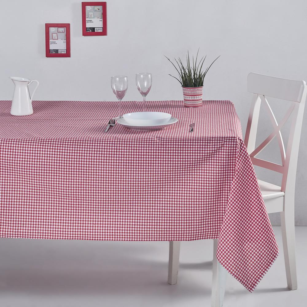 DC Home Pötikareli Masa Örtüsü (Kırmızı) - 170x220 cm