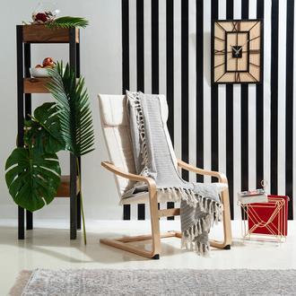 Evim Home Daisy Simli Koltuk Şalı (Kahverengi) - 130x170 cm