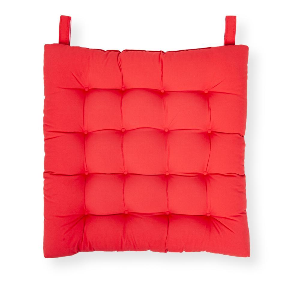 Iris Home Sandalye Minderi 50x50 cm - Kırmızı