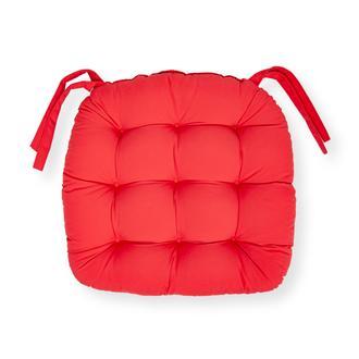 Iris Home Sandalye Minderi Oval 43x43 cm - Kırmızı