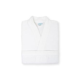 Linnea Plain Kadın Kimono Bornoz (Beyaz) - L / XL Beden