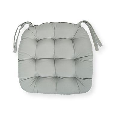 Iris Home Sandalye Minderi Oval 43x43 cm - Gri