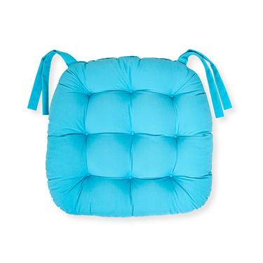 Iris Home Sandalye Minderi Oval 43x43 cm - Turkuaz