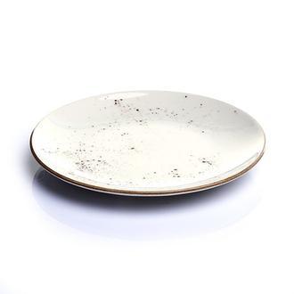 Tulu Porselen 1 Parça Servis Tabağı - Reactive Krem / 24 cm