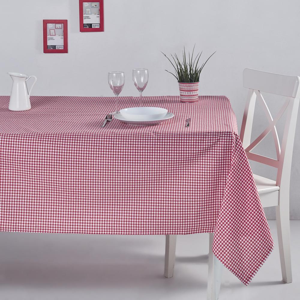 DC Home Pötikareli Masa Örtüsü (Kırmızı) - 170x170 cm