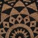 Giz Home P01 Bolero Jüt Örgü Yuvarlak Kilim (Siyah) - 90 cm