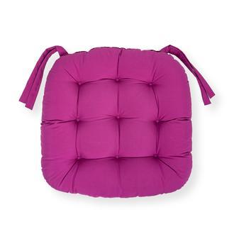 Iris Home Sandalye Minderi Oval 43x43 cm - Mürdüm